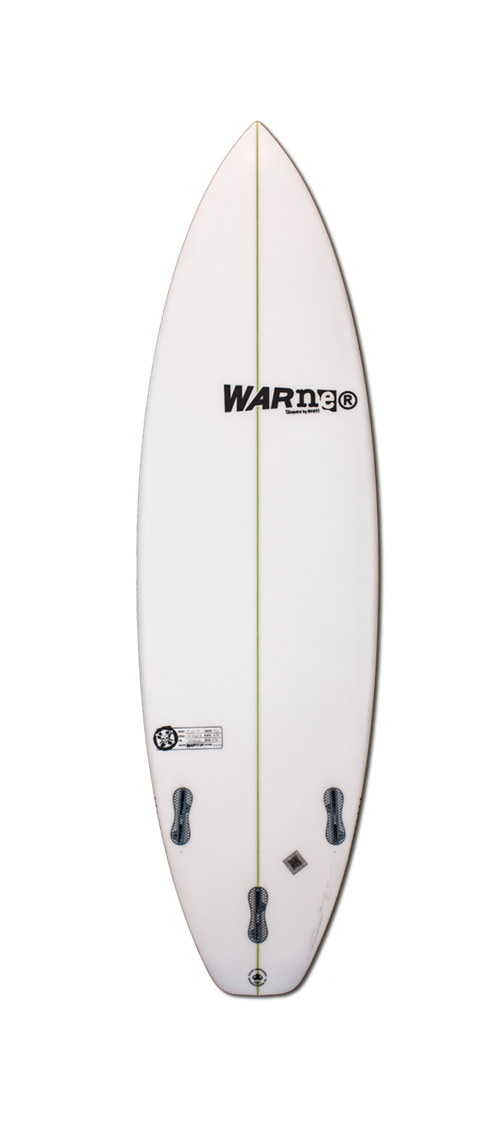 TNT surfboard model bottom