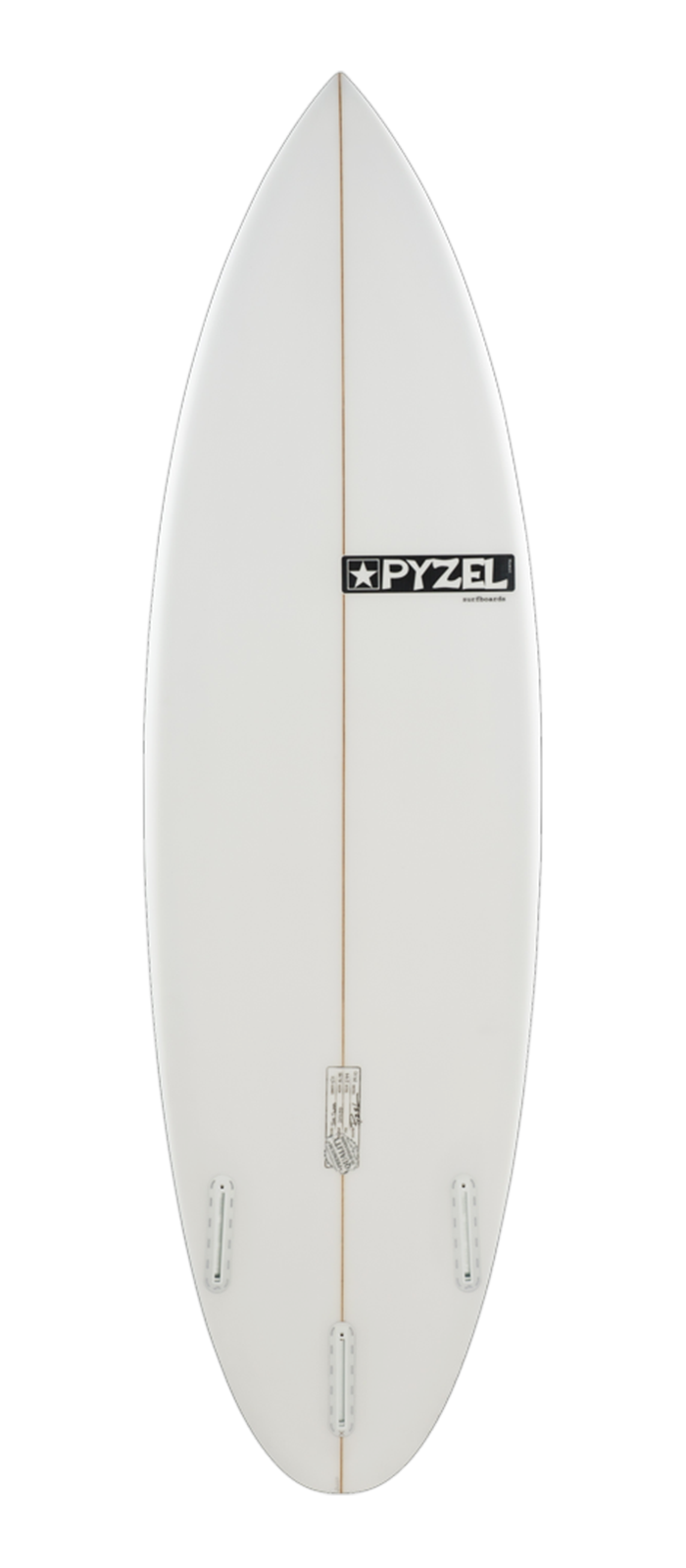 THE SLAB surfboard model bottom