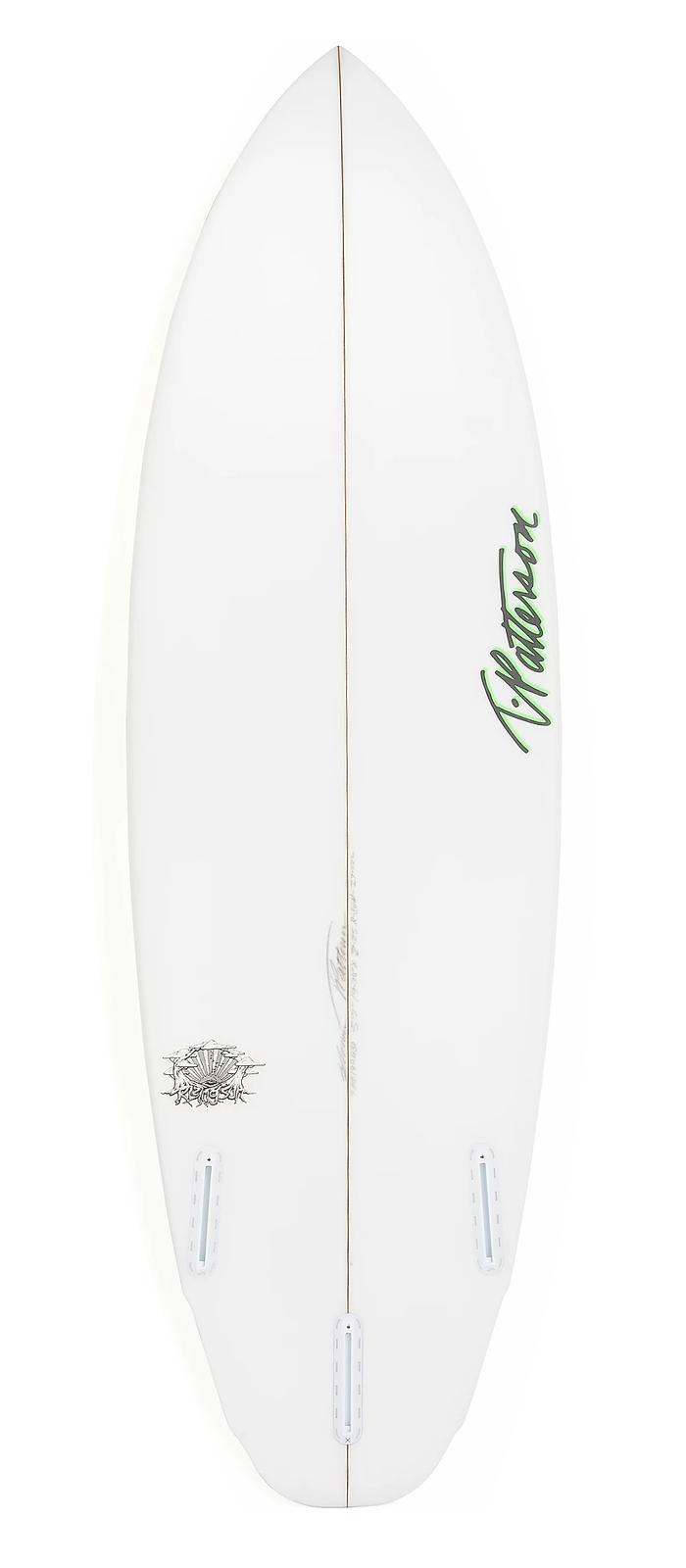 RISING SUN surfboard model bottom