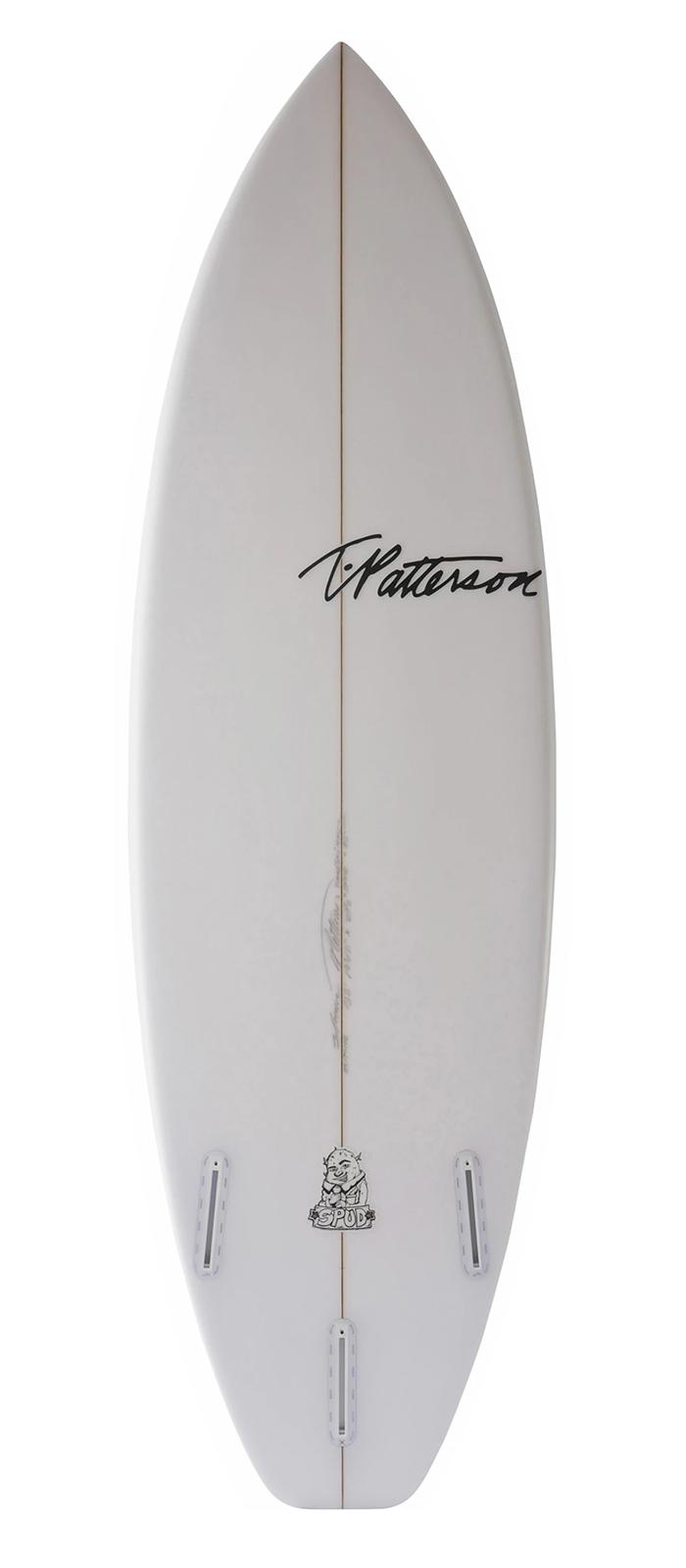 THE SPUD surfboard model bottom