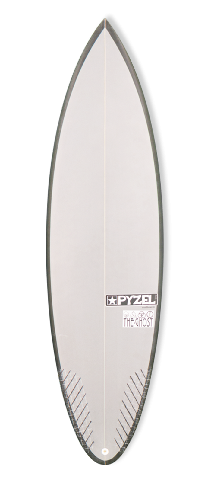 THE GHOST surfboard model deck