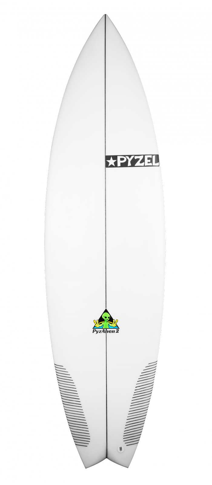 PYZALIEN II surfboard model deck