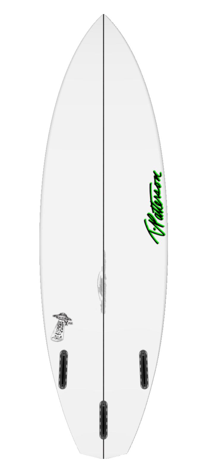 X FILE TWO surfboard model bottom