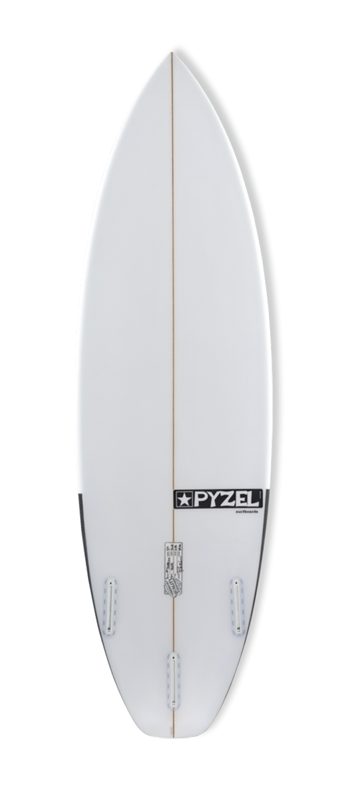 JJF SLAB 2.0 surfboard model bottom