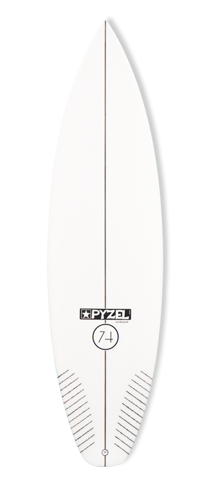 74 surfboard model deck