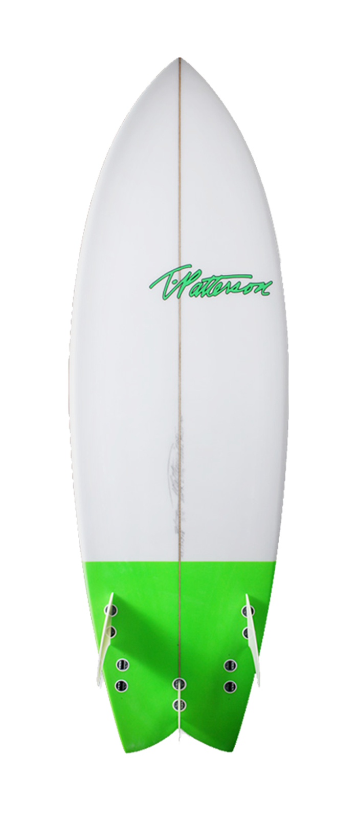 Devil Fish surfboard model bottom