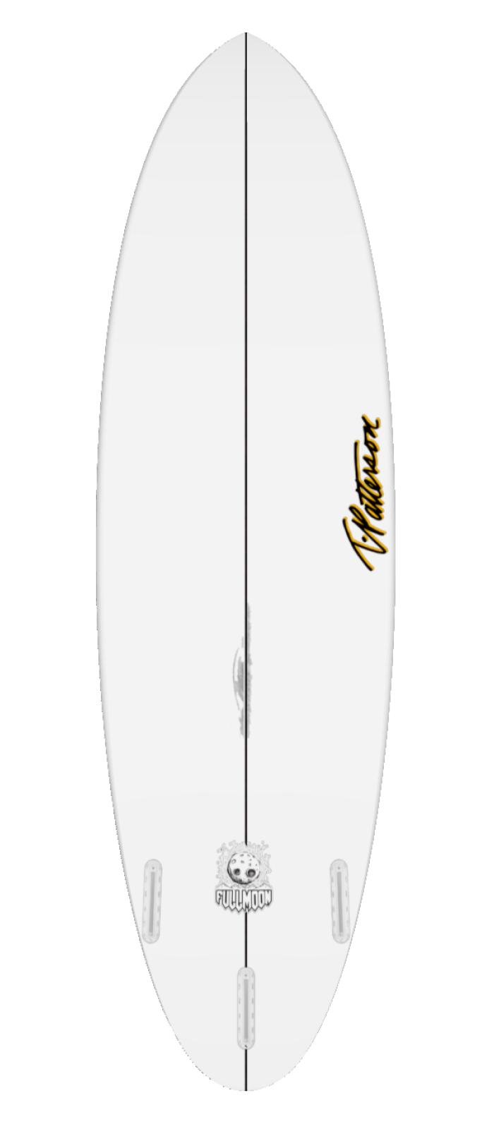 FULL MOON surfboard model bottom