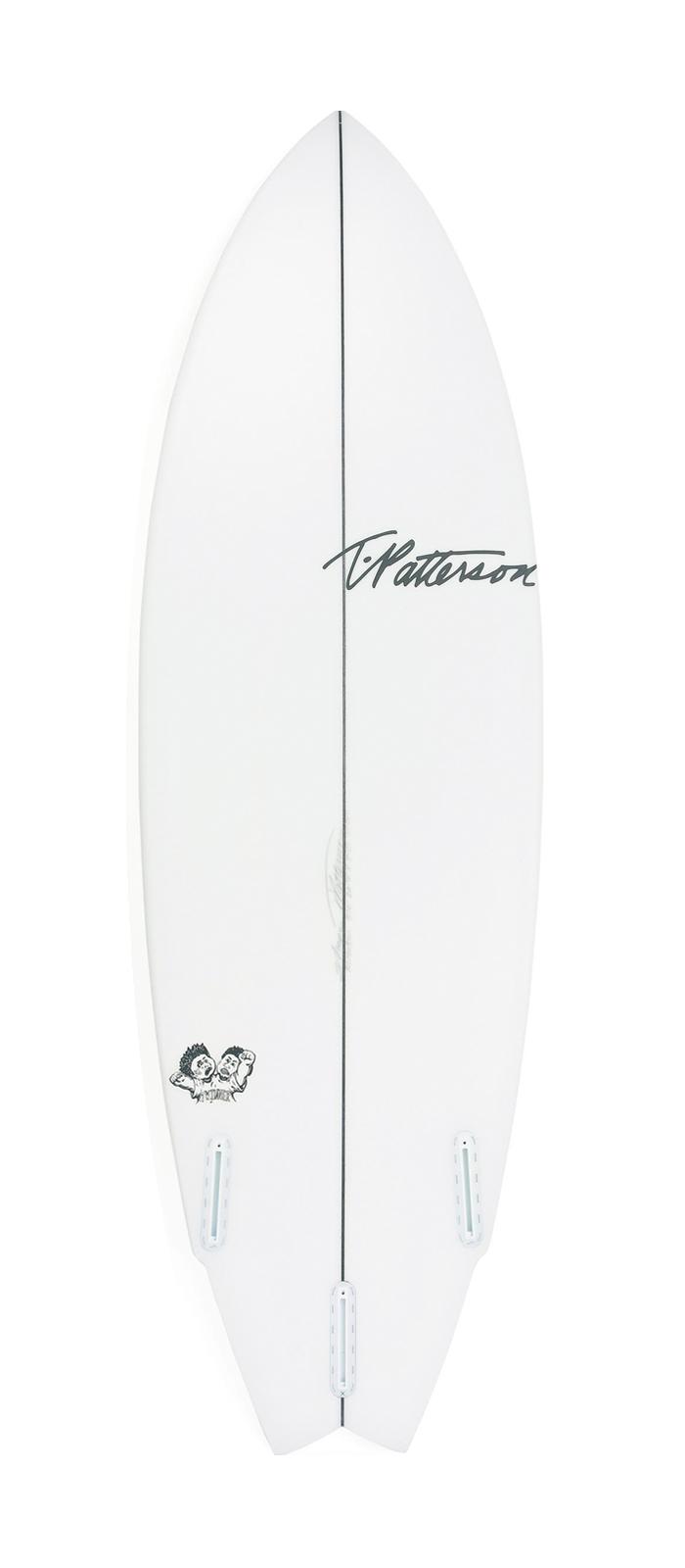 Twinner surfboard model bottom
