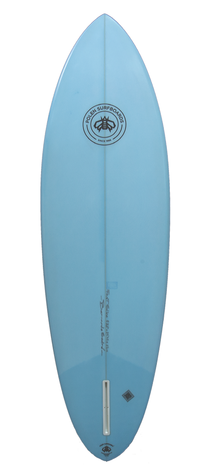 FAST SLICE surfboard model bottom