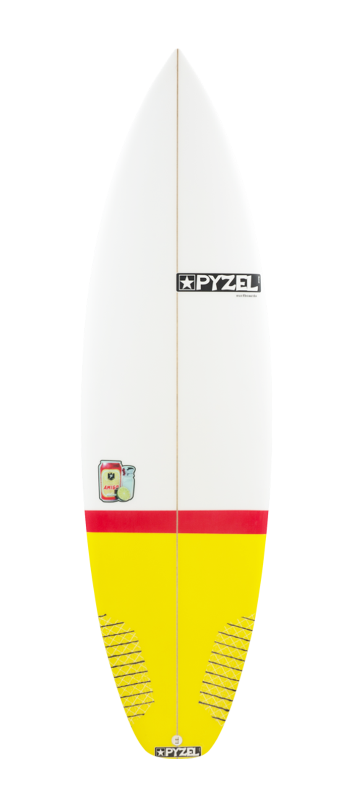 THE AMIGO surfboard model deck