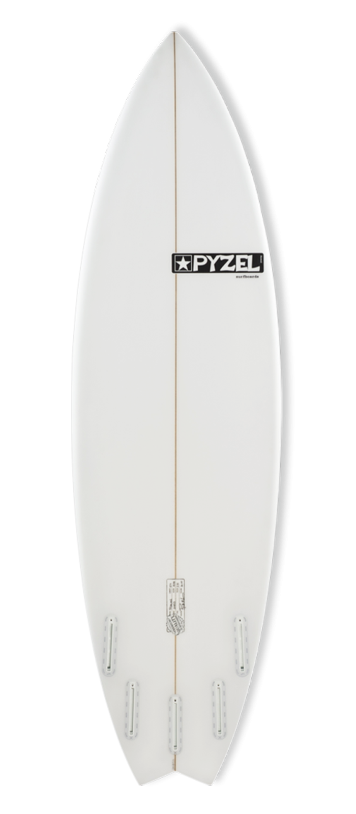 PYZALIEN surfboard model bottom