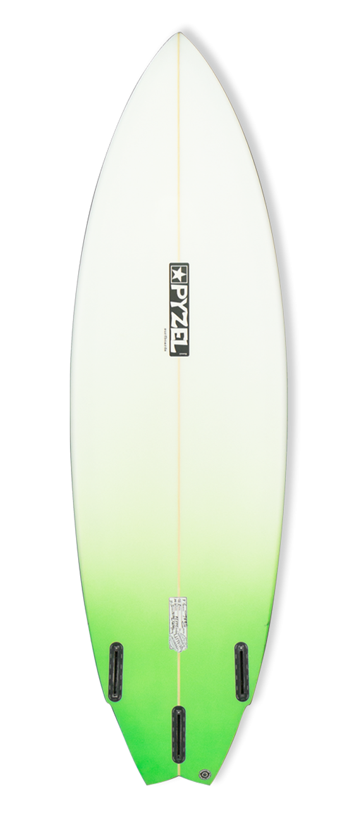 HAPPY TWIN surfboard model bottom