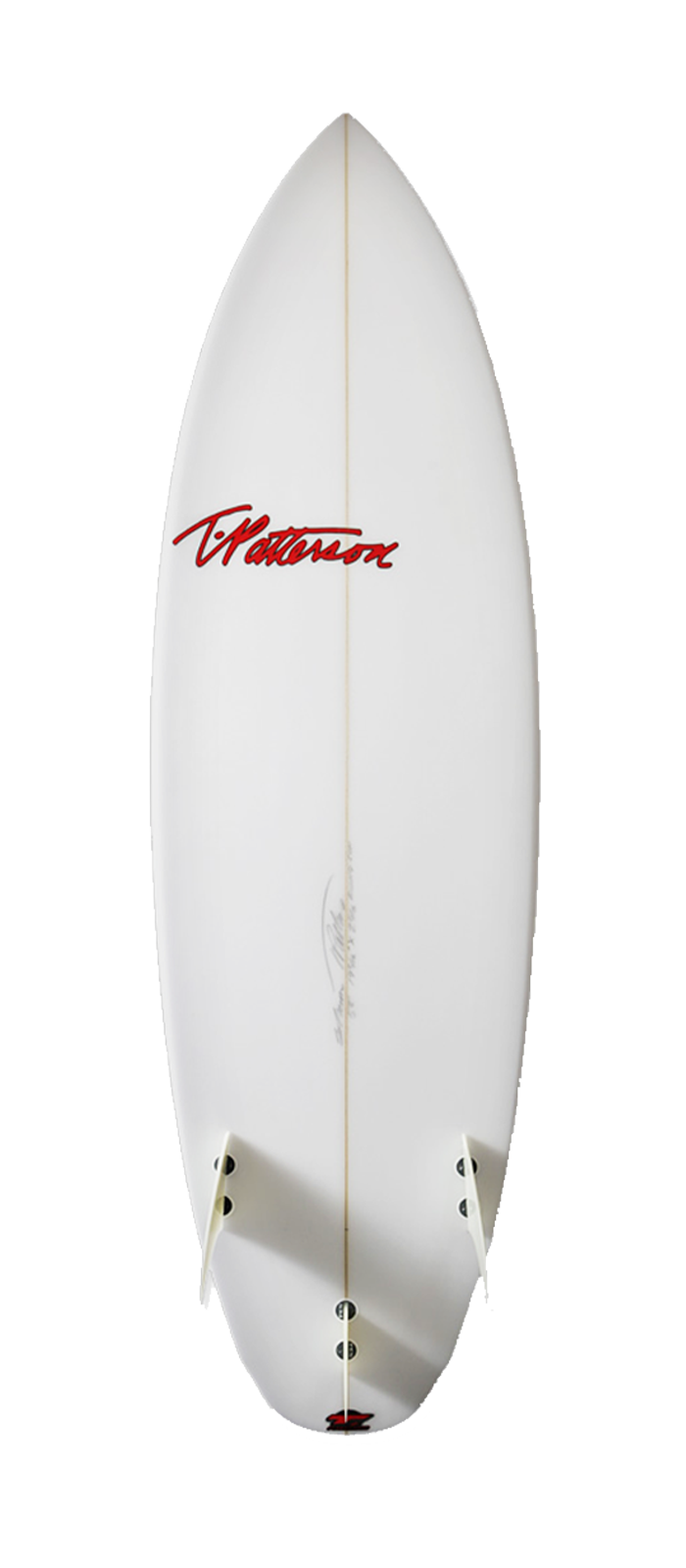Rising Sun surfboard model bottom