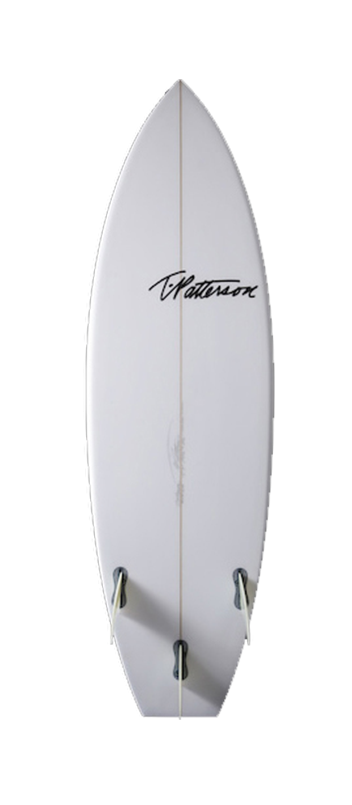 Chopped Clam surfboard model bottom