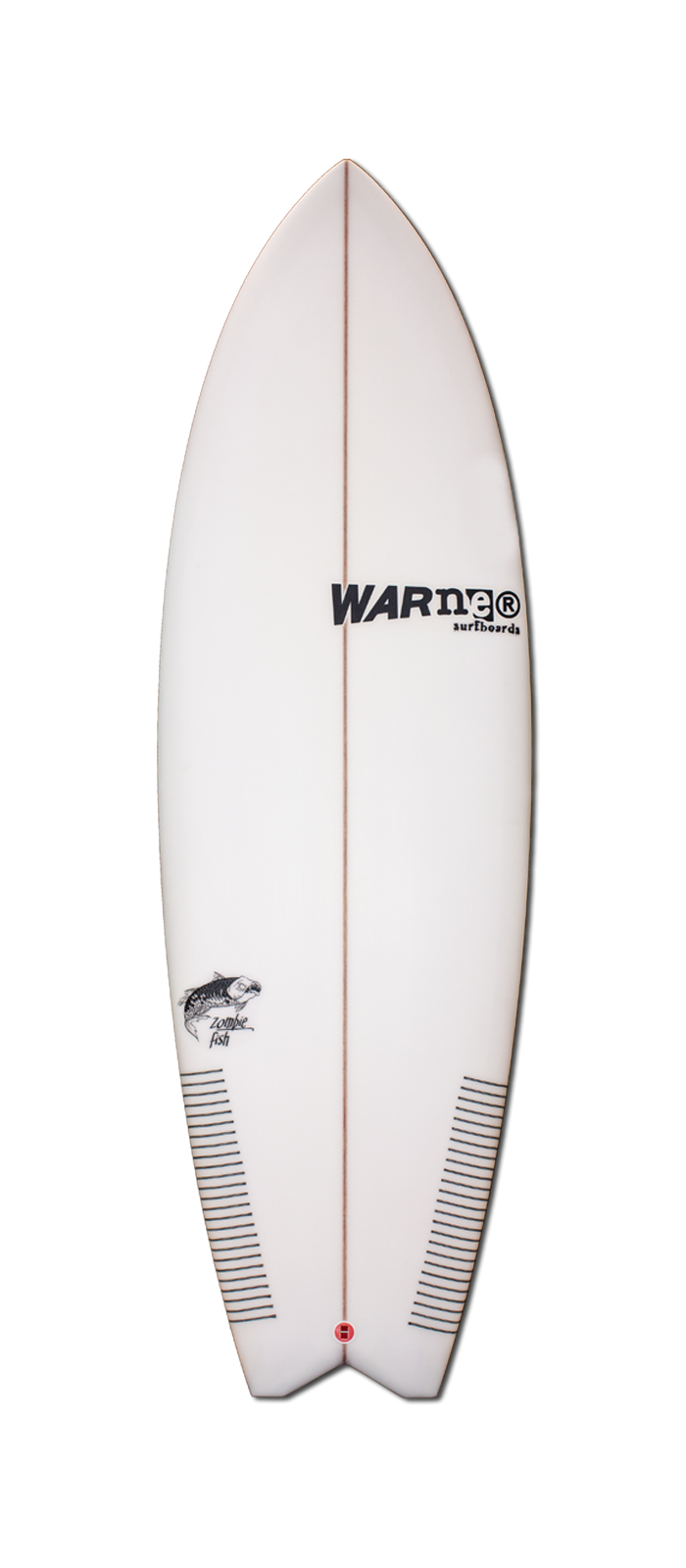 ZOMBIE FISH surfboard model deck