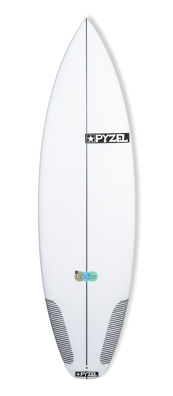 RADIUS surfboard model deck