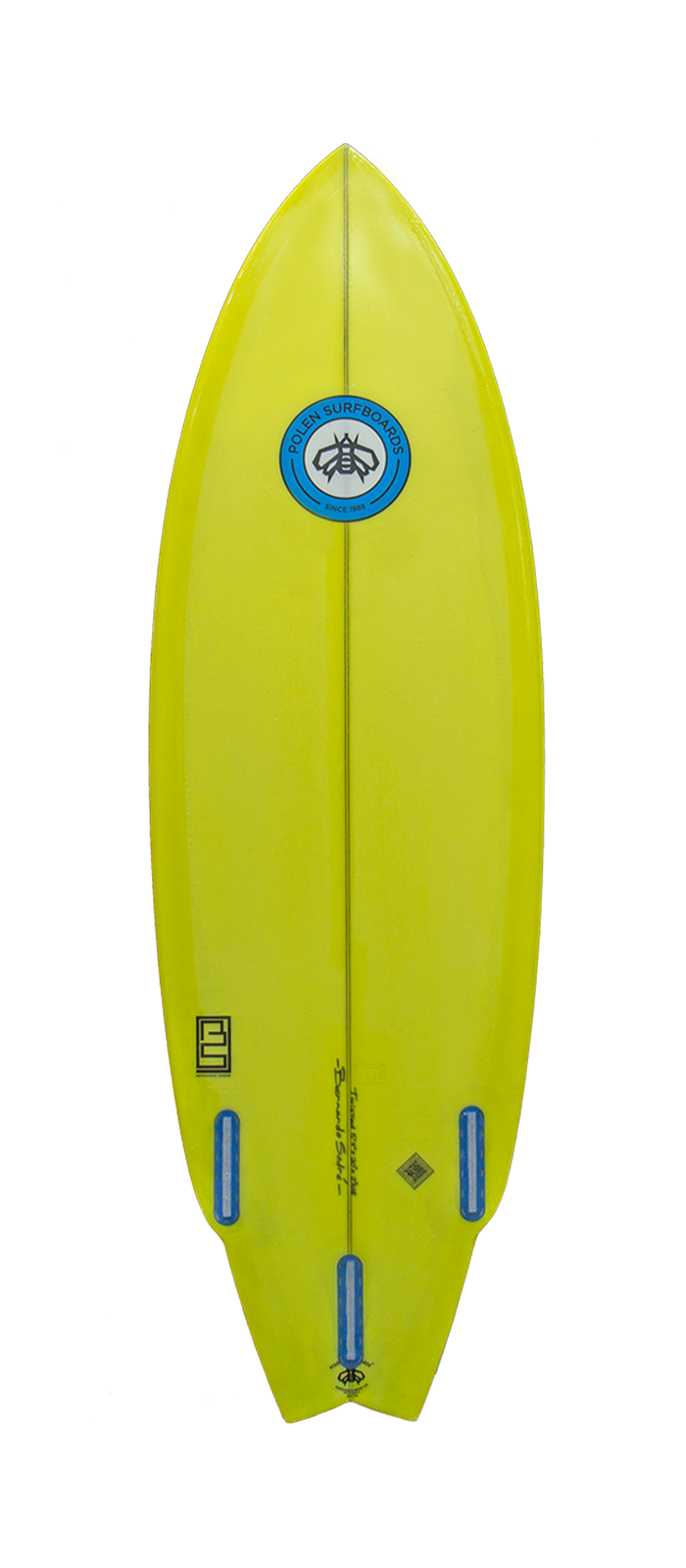 TWISTED surfboard model bottom