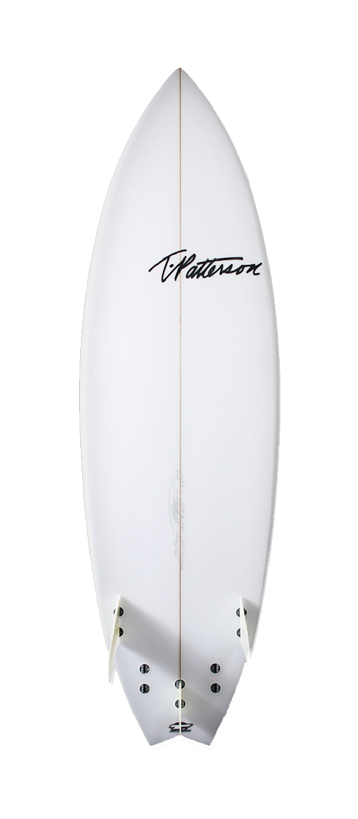 Twinner surfboard model bottom
