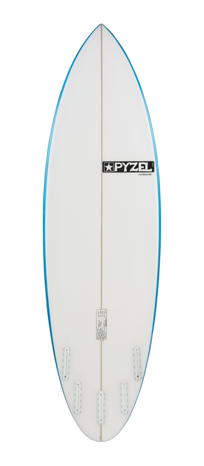 THE SHORTCUT surfboard model bottom