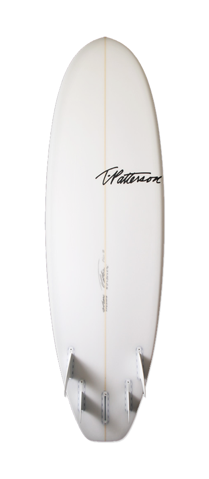 The Pill surfboard model bottom