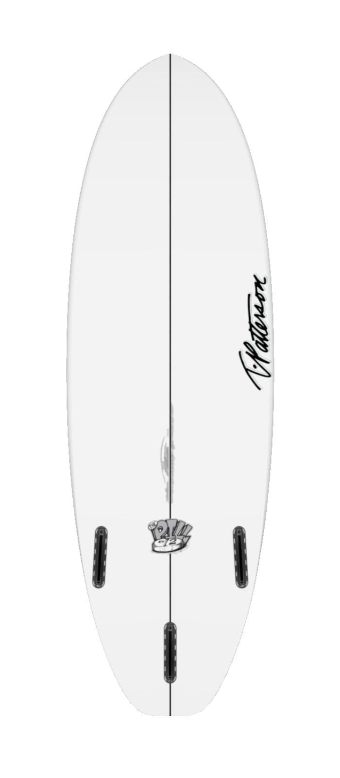 THE PILL TWO surfboard model bottom