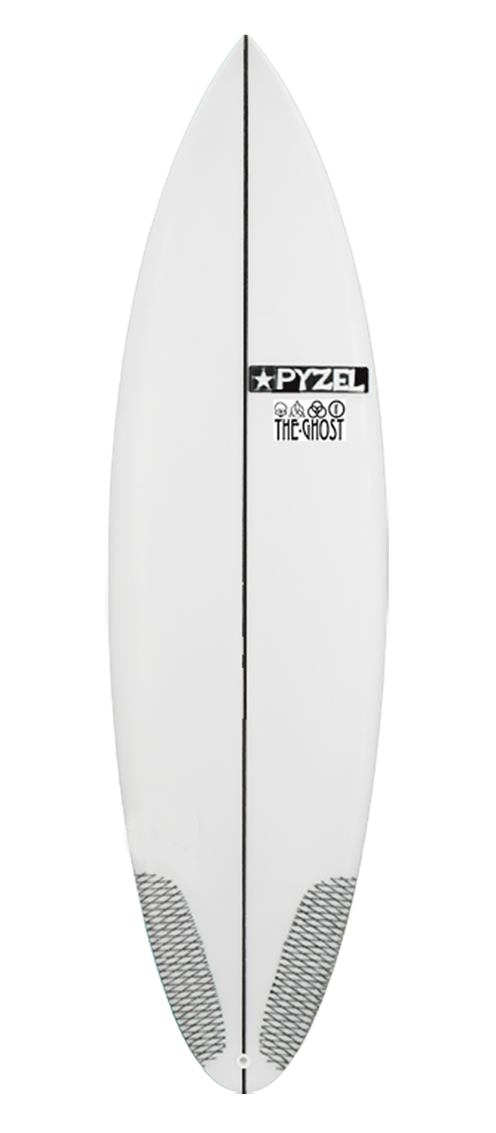 GROM GHOST surfboard model deck