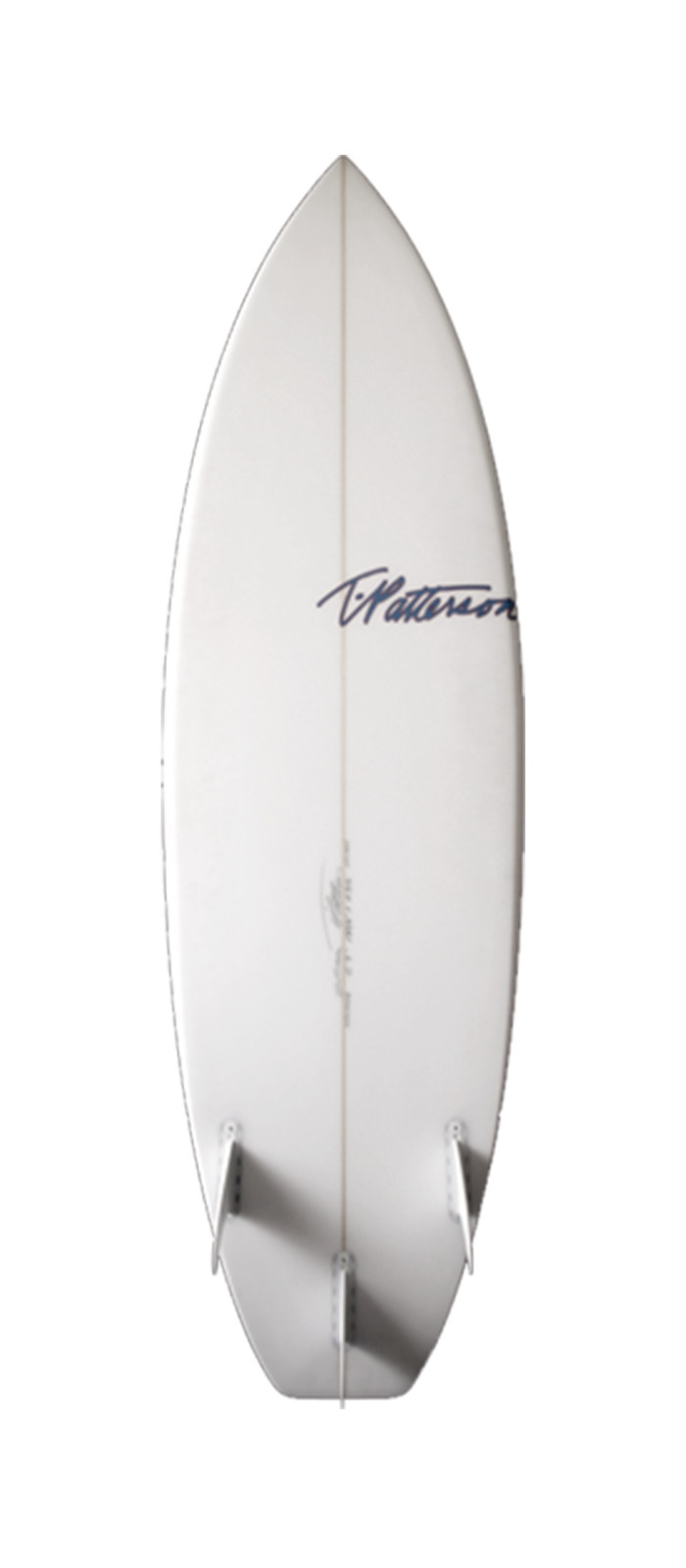 The Clam surfboard model bottom