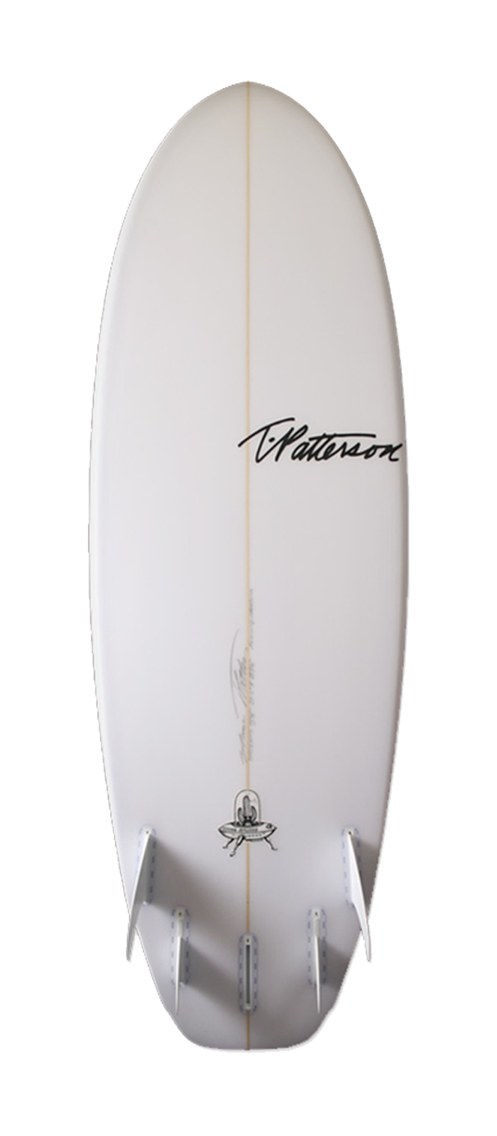 Flying Saucer surfboard model bottom